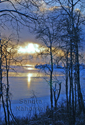 Reference Photo for Original Painting Sunset Reflections on Ice by Sandra Nahornoff